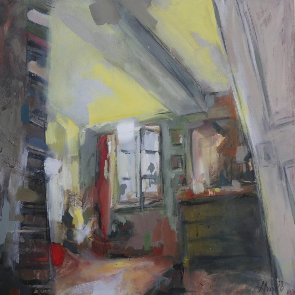 Albane Paillard Brunet - Artiste Peintre, intérieur de maison de campagne en Bourgogne à Russilly