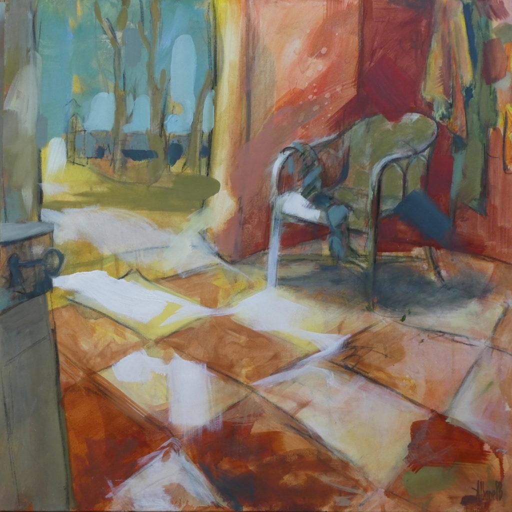 Albane Paillard Brunet - Artiste Peintre, interieur de maison de campagne