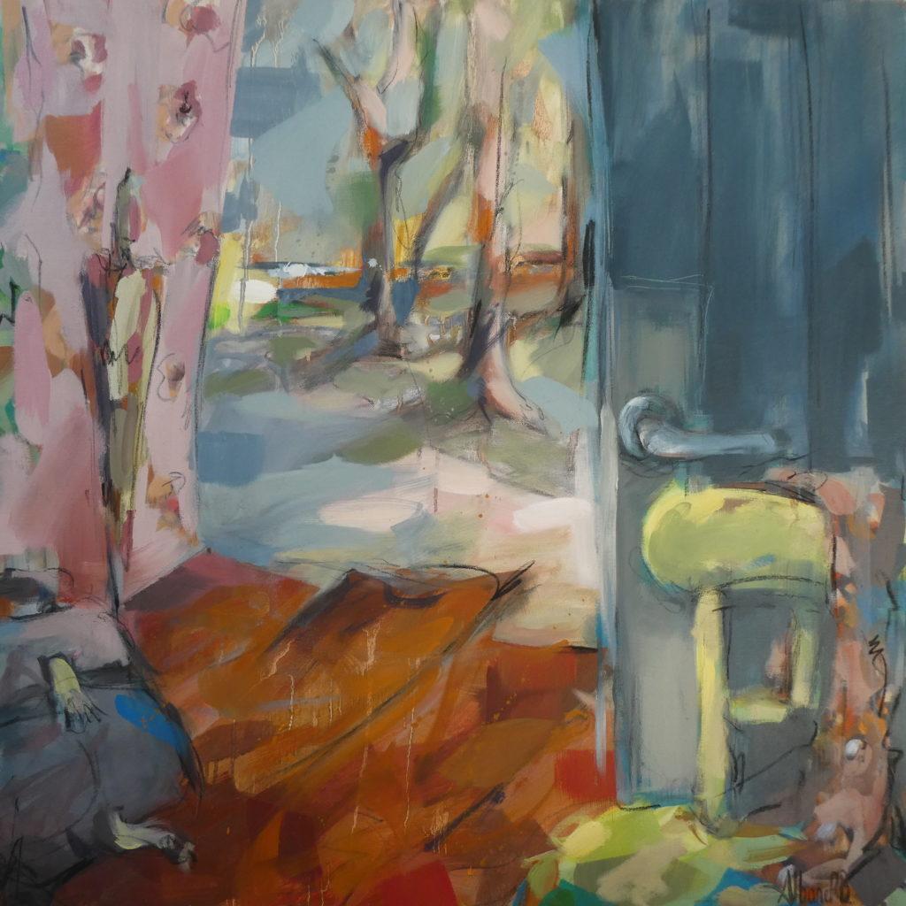 cartable dans l'entrée d'une maison de campagne par l'artiste peintre plasticienne Albane Paillard-Brunet