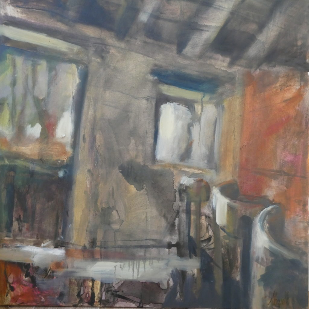 maison de campagne, russilly en Bourgogne, par Albane Paillard-Brunet, artsite peintre plasticienne grenobloise
