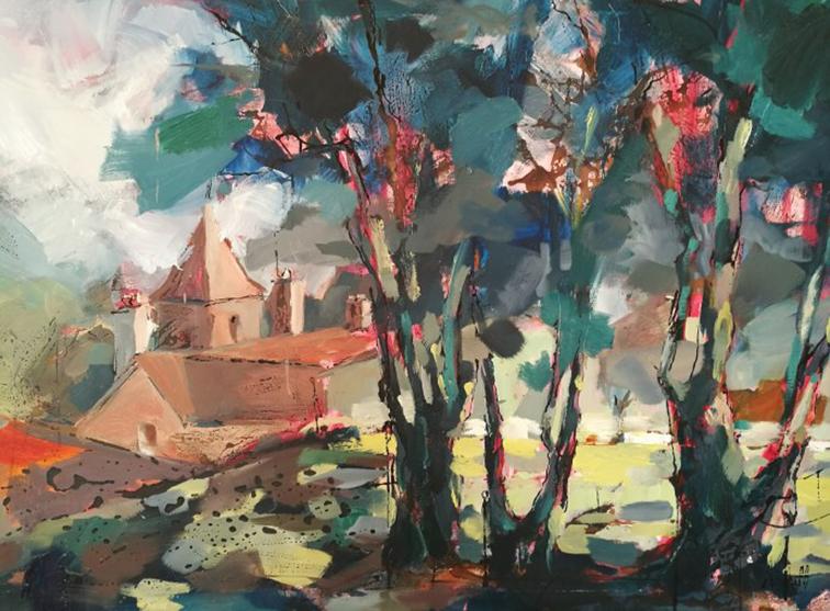 arbres Albane Paillard Brunet peinture sur huile