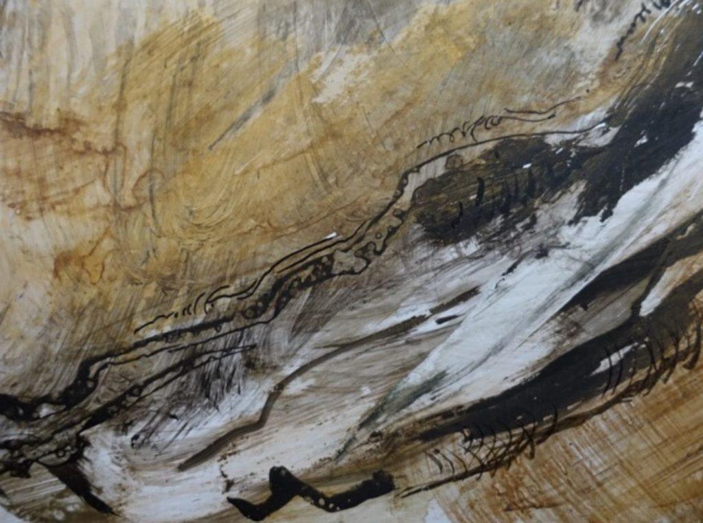 détail d'un dessin graphique réalisé sur papier par Albane Paillard-Brunet, artiste peintre plasticienne