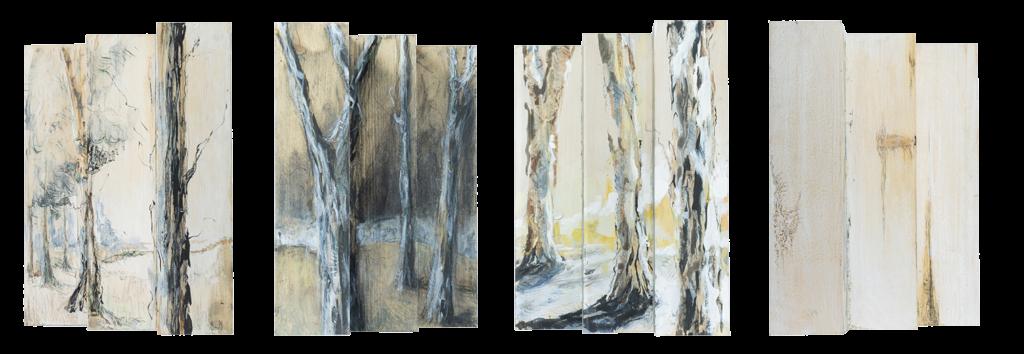 """Les """"Forêts"""" d'Albane Paillard-Brunet, artiste et plasticienne grenobloise, sont des sculptures sur pavés de bois."""