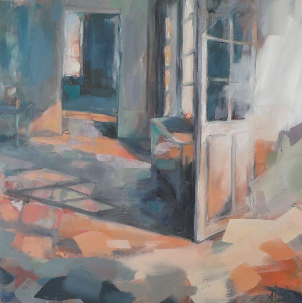Interieur de maison de campagne, Russilly, salle à manger baignée de lumière, par Albane Paillard-Brunet