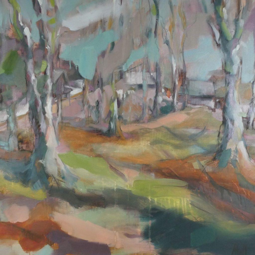 Parc Saint Benoit, Saint Bernard du Touvet, Plateau des Petites Roches, Chartreuse, peint par albane Paillard-Brunet, artiste peintre plasticienne