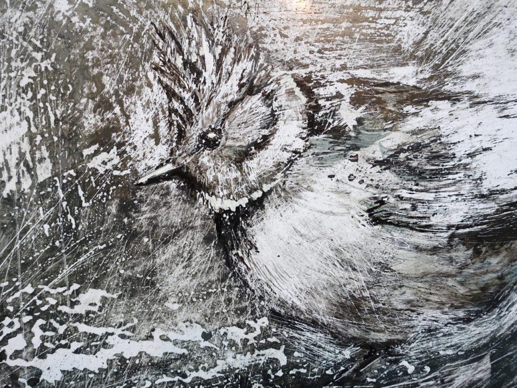détail d'un dessin réalisé sur papier par Albane Paillard-Brunet, artiste peintre plasticienne